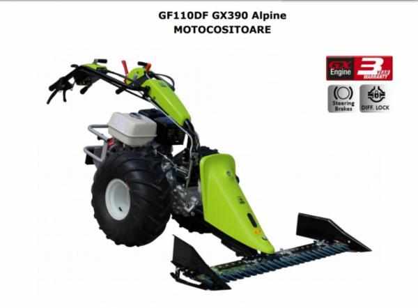 Motocositoare Grillo GF110DF Alpine motor HONDA GX390 13.0 HP 127 cm SP 1