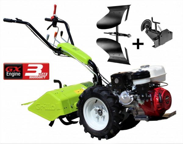 Motocultor Grillo G85 GX270 9 CP 58 CM + plug reversibil + suport plug 0