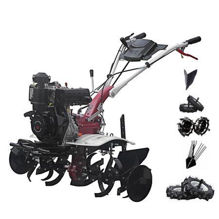 Motosapa Media Line 5.5 CP MS 5100 DCF Pachet Top + roti pneumatice + roti metalice + plug bilonat + plug simplu prasitoare + extractor cartofi 2