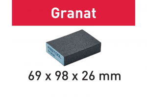 Festool Bloc de şlefuire 69x98x26 120 GR/6 Granat [3]