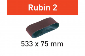 Festool Banda abraziva L533X 75-P100 RU2/10 Rubin 2 [1]