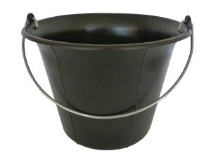 Galeti constructor din PVC negru, cu maner 11L (6,3)0
