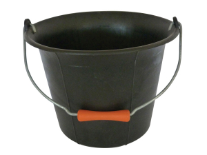 Galeti constructor din PVC negru, cu maner si manson 11L (5,3)1