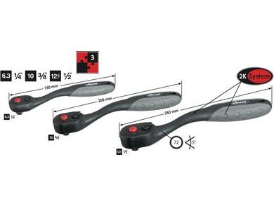 Vigor chei reversibile ¼ 3/8 ½ V3081 0