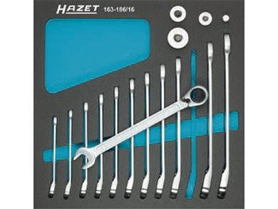 Hazet Set chei combinate cu clichet HZ163-186/16 0