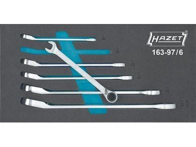 Hazet Set chei 6 combinate cu clichet HZ163-97/6 0