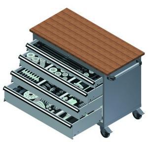 Carucior echipat cu scule pentru rulmenti, rulmenti compacti, bucse si pivoti MODULO 2000