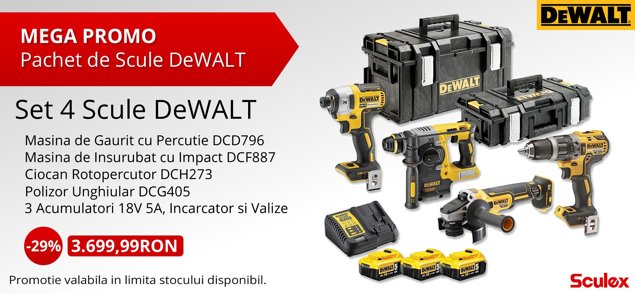 Pachet DeWALT mobile
