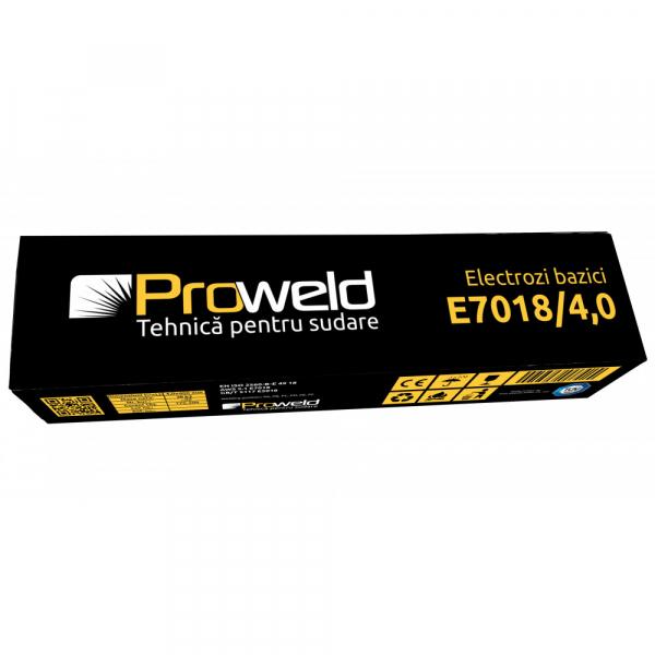 Electrozi bazici pentru sudura ProWELD E7018, 4mm/40cm, 170-200A, 5kg 2