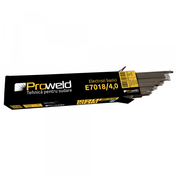 Electrozi bazici pentru sudura ProWELD E7018, 4mm/40cm, 170-200A, 5kg 0