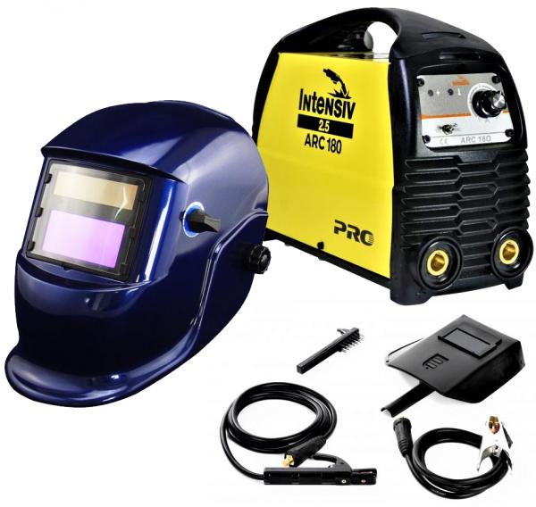 Pachet Aparat de sudura invertor Intensiv ARC 180 VRD, 10-180A, 8KvA, MMA/TIG, electrozi 1.6mm-4mm, bazici/rutilici/supertit 0