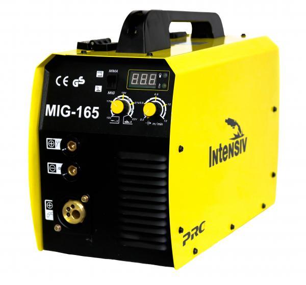 Aparat de sudura invertor Intensiv MIG 165, 30-160A, MIG-MAG/MMA, GAS/NO GAS, electrozi 1.6mm - 3.2mm bazici/rutilici/supertit 1