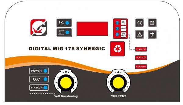 Aparat de sudura invertor Intensiv MIG 175, 20-160A, MIG-MAG/MMA, TIG DC, GAS/NO GAS, FLUX 1mm, electrozi 1.6mm - 3.2mm bazici/rutilici/supertit 5