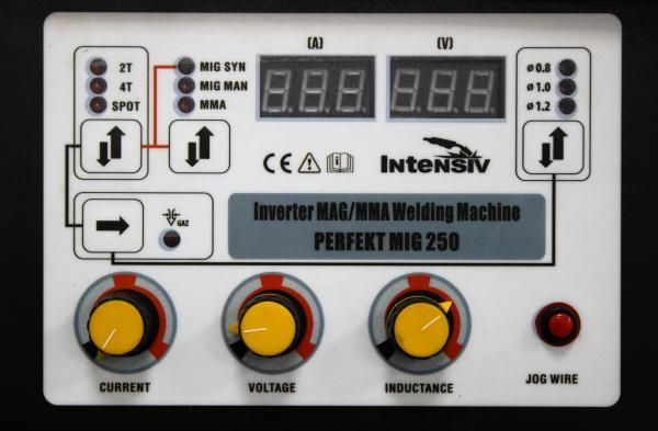 Aparat de sudura invertor Intensiv PERFEKT MIG 250 SYNERGIC, 30-250A, MIG MAG, MIG MAN, MMA, GAS/NO GAS, sarma/FLUX 0.6-1mm 1