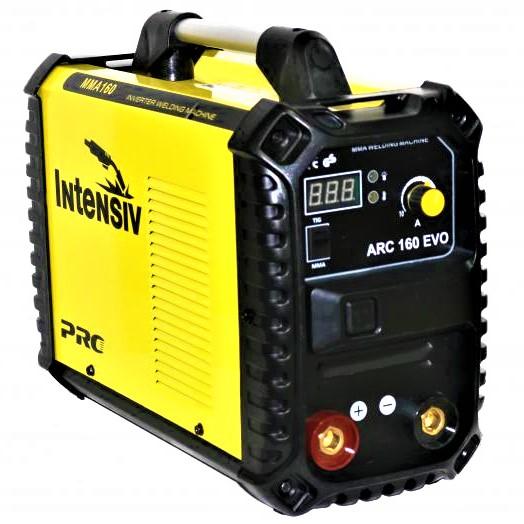 Aparat de sudura invertor Intensiv ARC 160 EVO, 20-160A, MMA, electrozi 1.6mm-4mm, bazici/rutilici/supertit 0