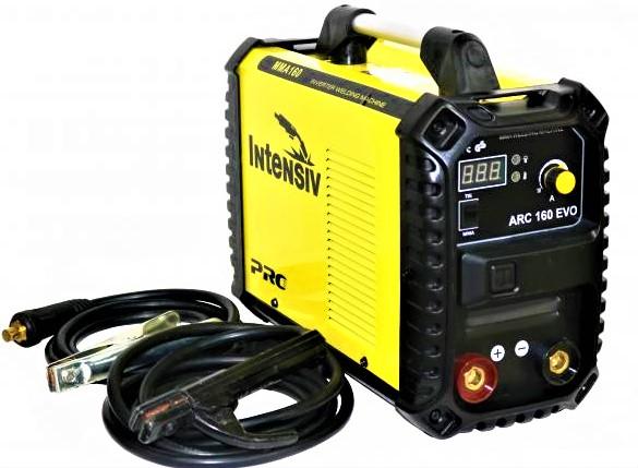 Aparat de sudura invertor Intensiv ARC 160 EVO, 20-160A, MMA, electrozi 1.6mm-4mm, bazici/rutilici/supertit 3