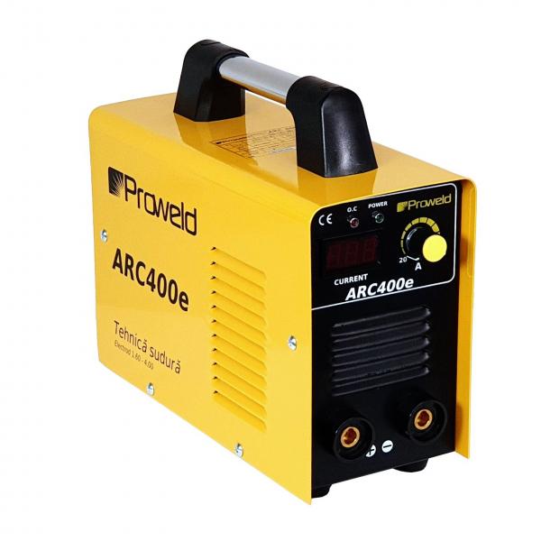 Aparat de sudura invertor ProWELD ARC400e, 20-180A, 7KvA, MMA, electrozi 1.6mm-4mm, bazici/rutilici/supertit 0