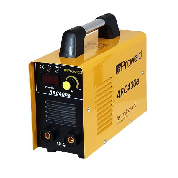 Aparat de sudura invertor ProWELD ARC400e, 20-180A, 7KvA, MMA, electrozi 1.6mm-4mm, bazici/rutilici/supertit 1