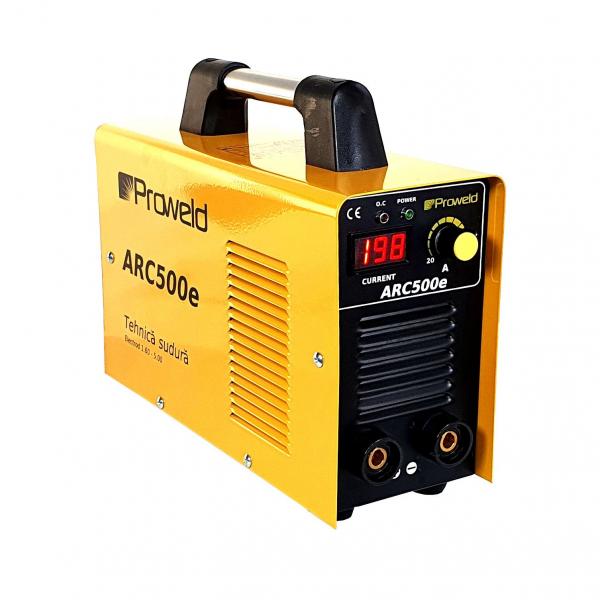 Aparat de sudura invertor ProWELD ARC500e, 20-250A, 9.5KvA, MMA, electrozi 1.6mm-5mm, bazici/rutilici/supertit 0