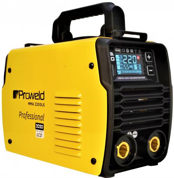 Aparat de sudura invertor ProWELD MMA220LCD, 10-220A, 6.5KvA, MMA/LiftTIG, electrozi 2.5mm-5mm, bazici/rutilici/supertit 0