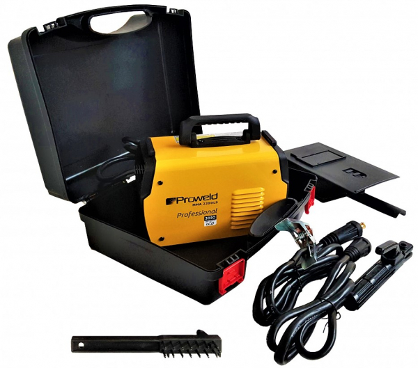 Aparat de sudura invertor ProWELD MMA220LCD, 10-220A, 6.5KvA, MMA/LiftTIG, electrozi 2.5mm-5mm, bazici/rutilici/supertit 5