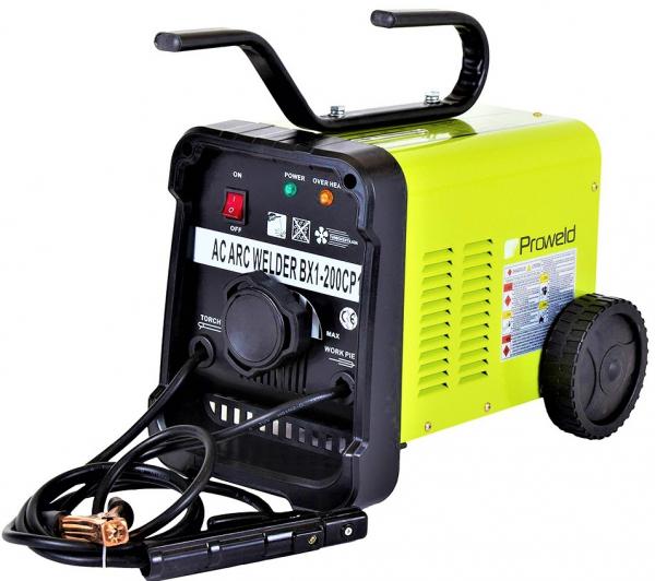 Aparat de sudura transformator ProWELD BX1-200CP1, 75-200A, 11.2KvA, MMA, electrozi 2.5mm-5mm, rutilici/supertit 1