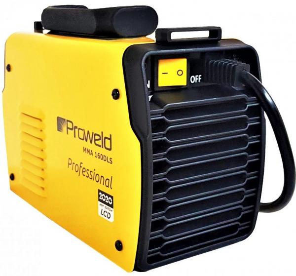 Aparat de sudura invertor ProWELD MMA160LCD, 10-160A, 5.5KvA, MMA/LiftTIG, electrozi 2.5mm-4mm, bazici/rutilici/supertit 2