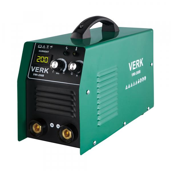 Aparat de sudura invertor Verk VWI-200B, 10-200A, 8.8KVA, MMA, Electrozi 1-5 mm bazici/rutilici/supertit 0