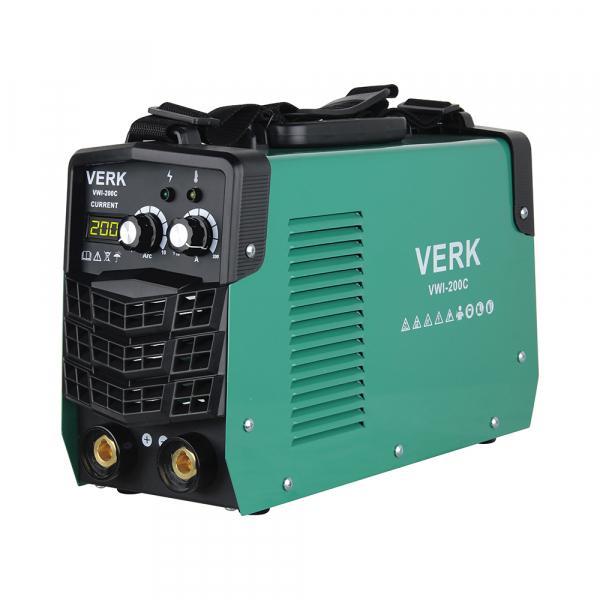 Aparat de sudura invertor Verk VWI-200C, 10-200A, 8.8KVA, MMA, Electrozi 1-5 mm bazici/rutilici/supertit 0