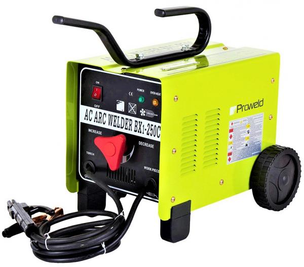 Aparat de sudura transformator ProWELD BX1-250C1, 80-250A, 14KvA, MMA, electrozi 2.5mm-5mm, rutilici/supertit 1
