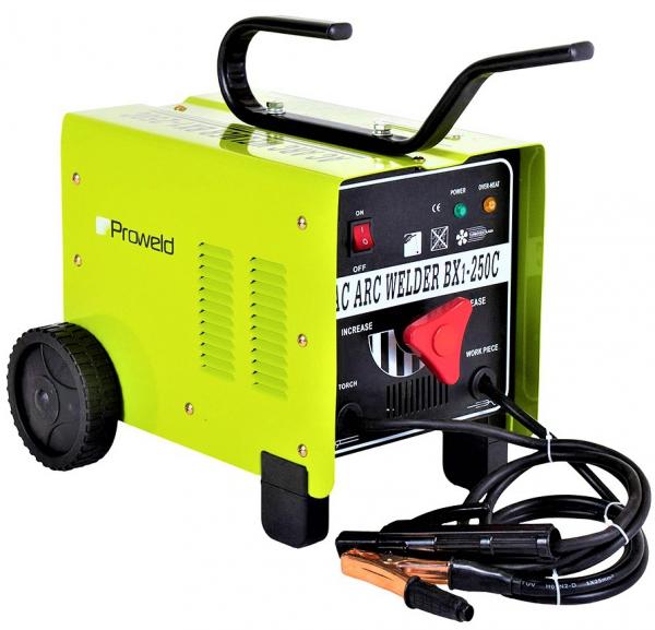 Aparat de sudura transformator ProWELD BX1-250C1, 80-250A, 14KvA, MMA, electrozi 2.5mm-5mm, rutilici/supertit 0