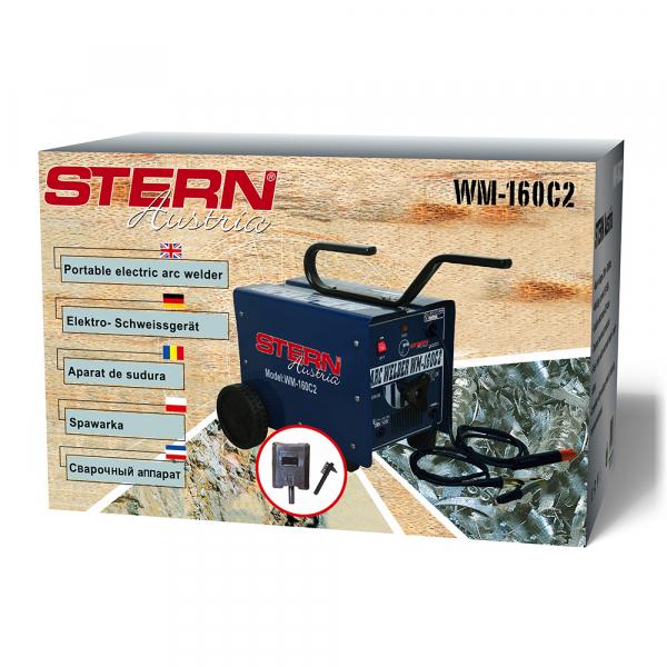 Aparat de sudura transformator Stern WM1-160C2, 50-120A, MMA, electrozi 2.5mm-4mm, rutilici/bazici/supertit 1