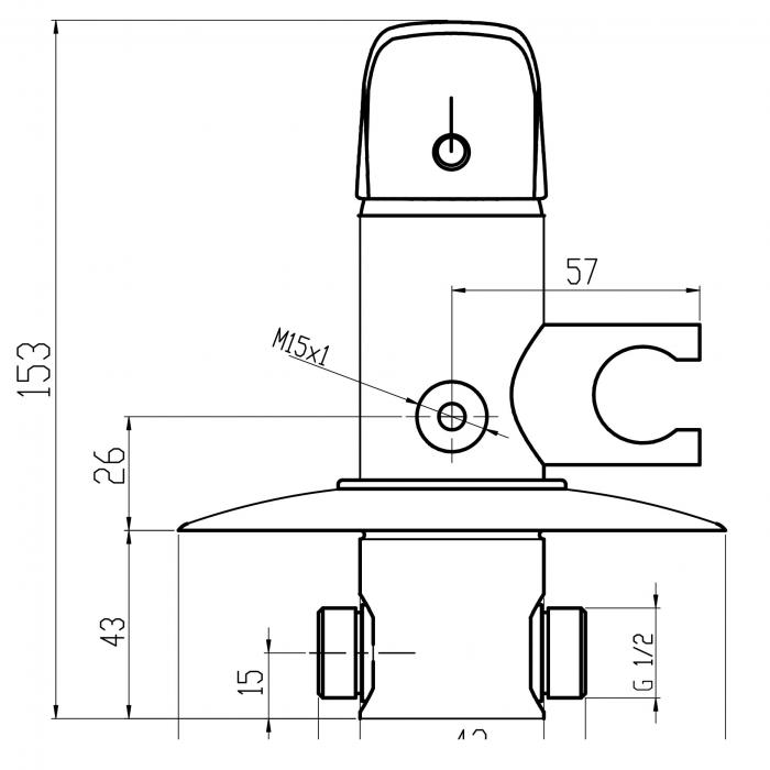 Baterie ingropata cu set dus igienic FERRO Metalia 57 57211.0, crom 1