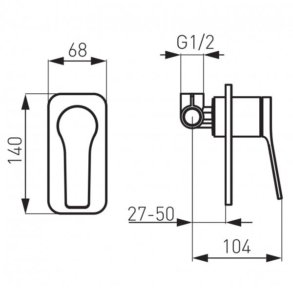 Baterie ingropata dus FERRO Stratos BSC7PA, crom 1