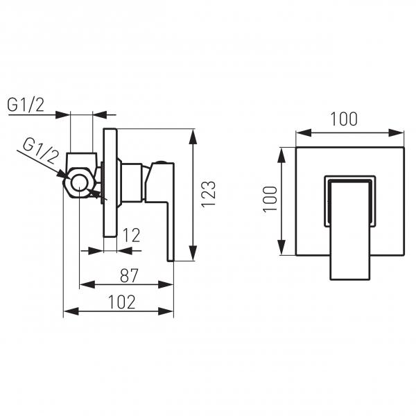 Baterie ingropata dus FERRO Zicco BZI7PA, crom 1