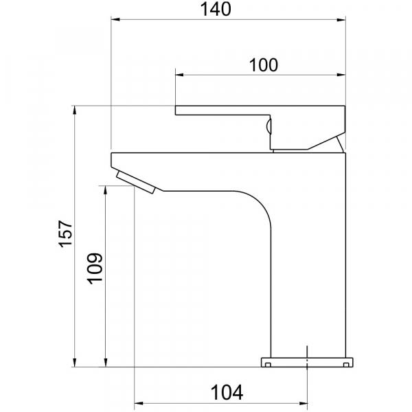 Baterie stativa lavoar FERRO Edge 36001/1.0, crom fara ventil 1