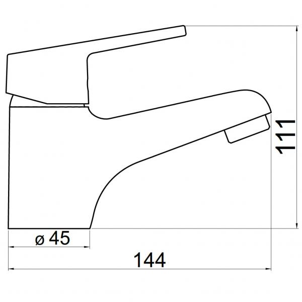 Baterie stativa lavoar FERRO Iris New 94401.0, crom cu ventil 1