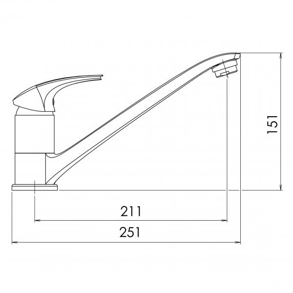 Baterie stativa spalator FERRO Metalia 57 57091.1, alb/crom 1