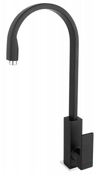 Baterie stativa spalator FERRO Zicco BZI4BL, negru cu pipa inalta 0