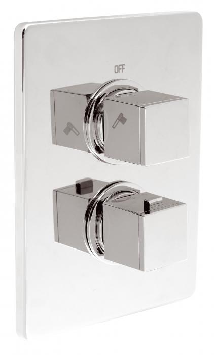 Baterie termostatata ingropata cada/dus FERRO Aquasave 2850R.0, crom 0