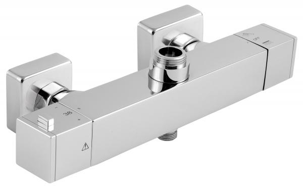 Baterie termostatata perete dus FERRO Aquasave 2862/1.0, cu 2 iesiri, crom 0