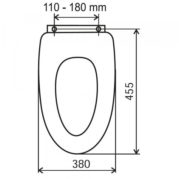 Capac WC soft-close din MDF FERRO, alb 1
