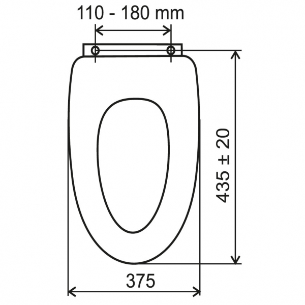 Capac WC universal din lemn de bambus FERRO 1