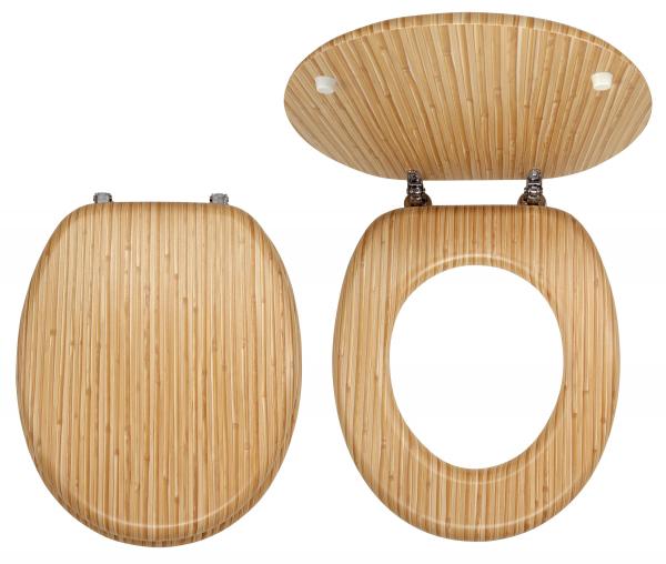 Capac WC universal din lemn de bambus FERRO 0