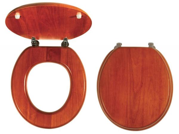 Capac WC universal din lemn de stejar FERRO, natur deschis 0