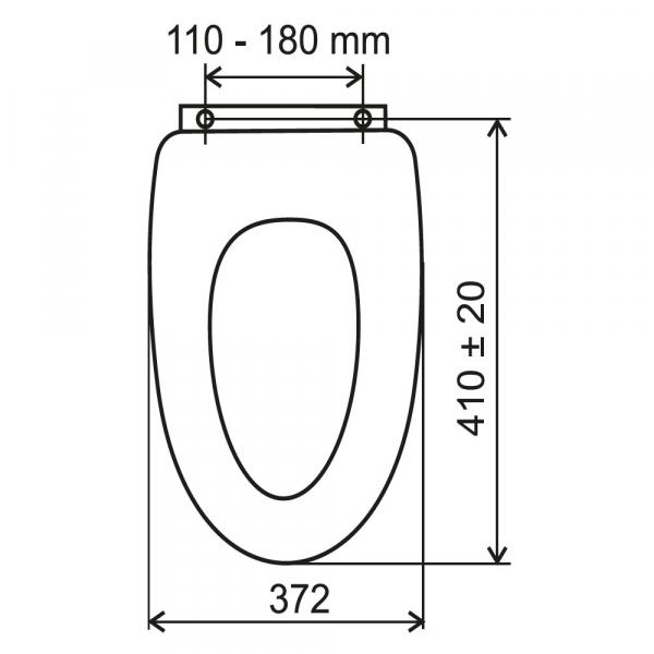 Capac WC universal din MDF FERRO Lyra, alb 1