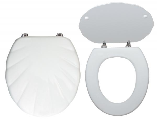 Capac WC universal din MDF FERRO Lyra, alb 0