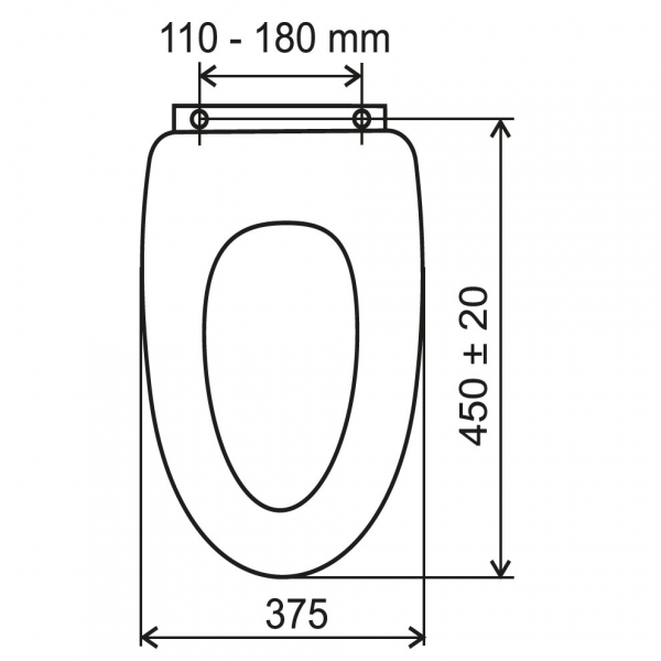 Capac WC universal din plastic FERRO, alb 1