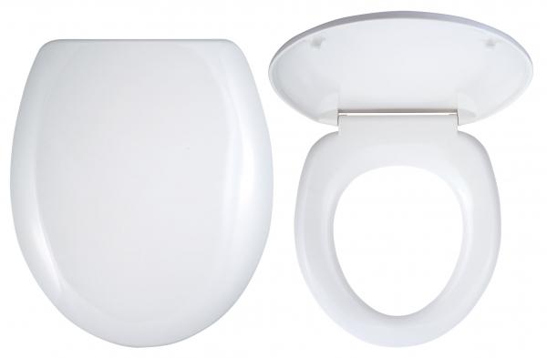 Capac WC universal din plastic FERRO, alb 0