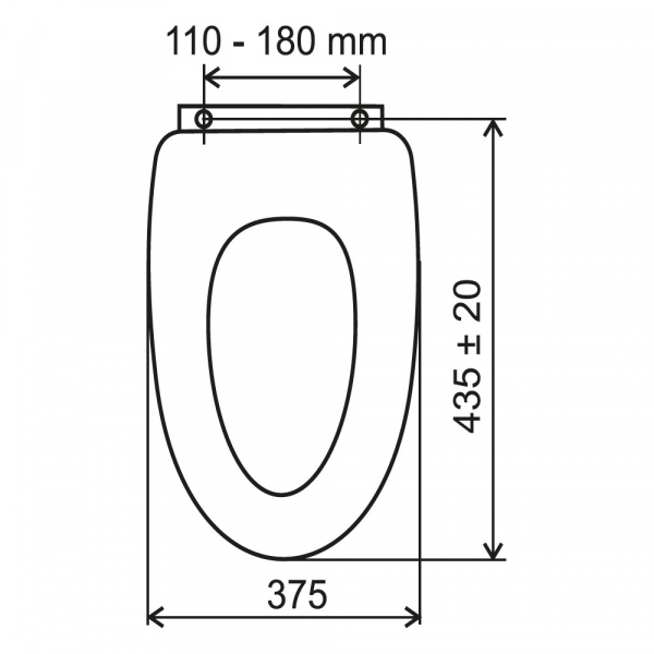 Capac WC universal FERRO din MDF, wenge 1
